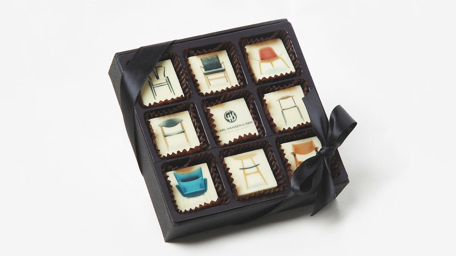 chokolade med tryk